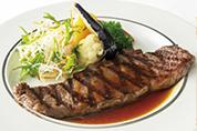 しあわせ絆牛(千葉県産)のステーキ<br>(ライスまたはパン、スープ付)