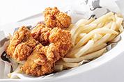 鶏の唐揚げとフライドポテト